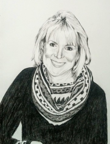 Charcoal memorial portrait