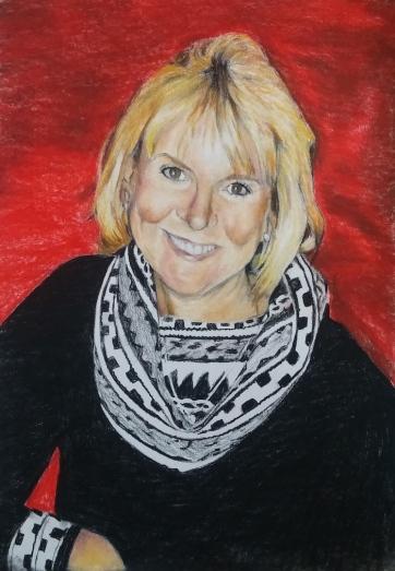 Conté crayon memorial portrait
